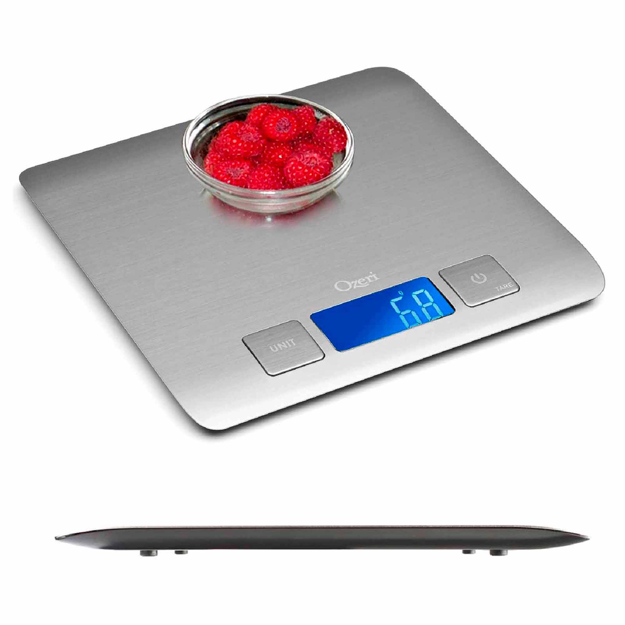 Zenith Digital Kitchen Scale By Ozeri In Refined Stainless Steel With Fingerprint Resistant Coating