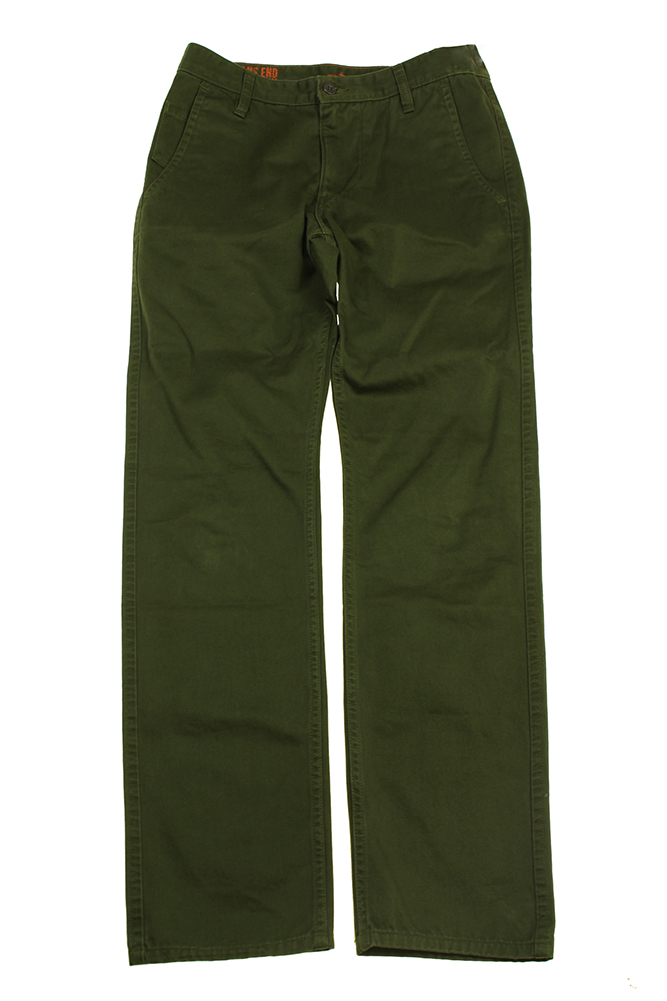 Dockers Green Denim Chino Pants 29W-32 by