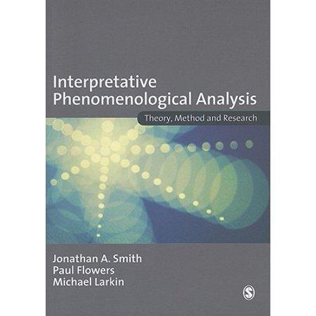Interpretative Phenomenological Analysis : Theory, Method and