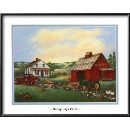 Sunny Days Lamina Framed Art Print Wall Art  By Kay Lamb Shannon - (Kay Lamb)