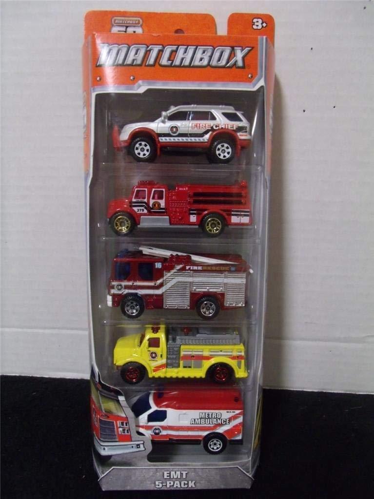 Matchbox 2013 EMT 5-Pack 2012 Ford Explorer Interceptor   International Pumper   Dennis Sabre Fire Engine  ... by