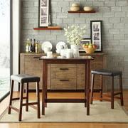 TRIBECCA HOME Nova 3-piece Kitchen Counter Height Dinette Set Cherry