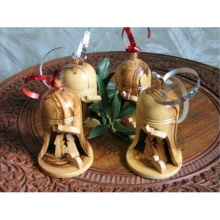 4 Olive Wood Bell Christmas Ornaments From Bethlehem](Bethlehem Ga)