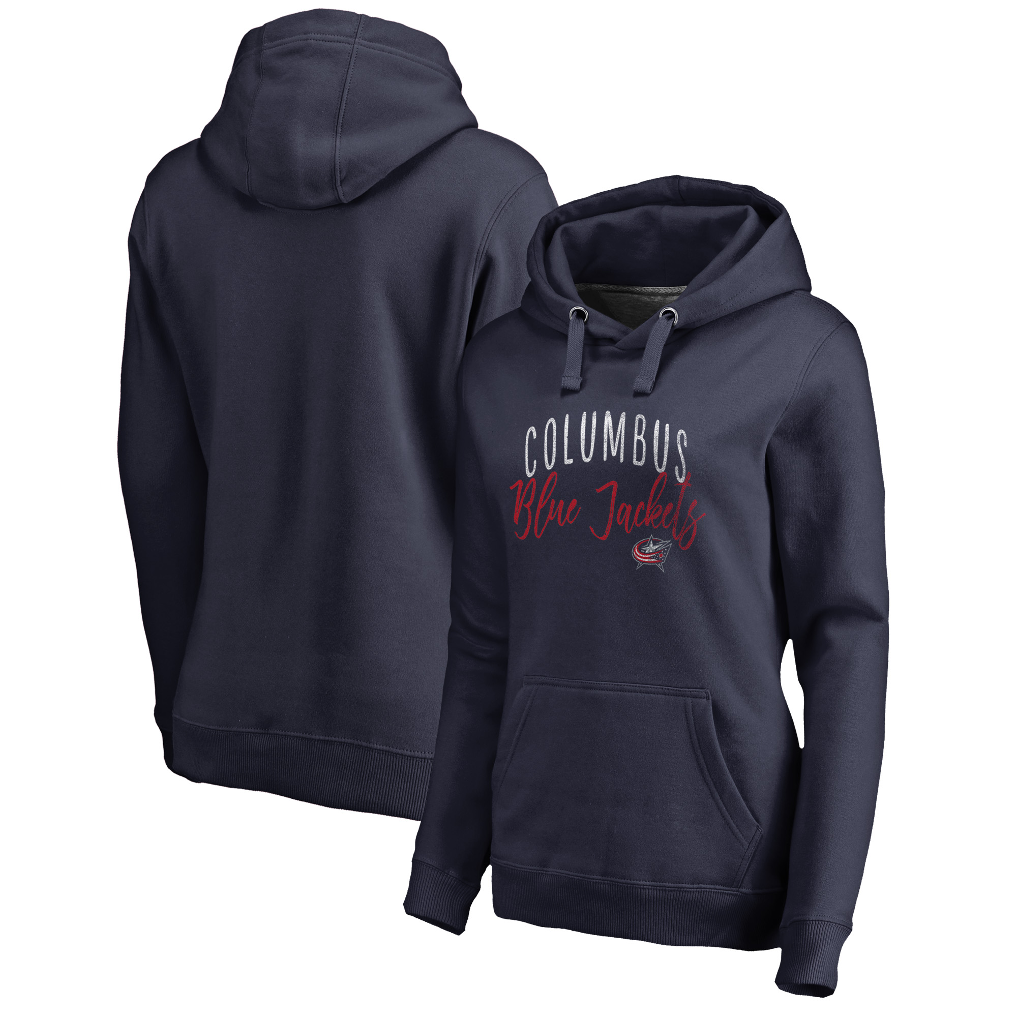 Columbus Blue Jackets Fanatics Branded Women's Plus Size Graceful Pullover Hoodie - Navy