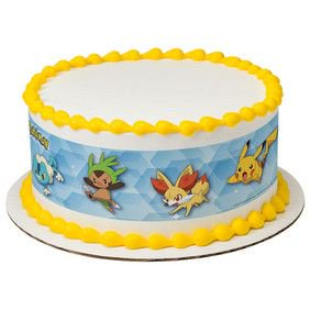 Pokemon Pikachu Party Edible Cake Border Decoration