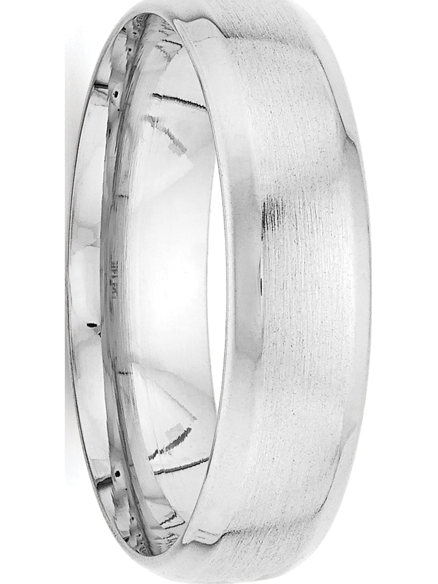 14k White Gold Heavy Comfort Fit Fancy Wedding Band Special Buy Jewelry & Watches