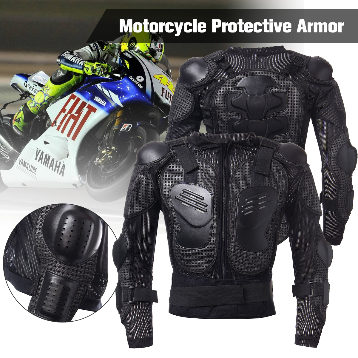 Full Body Armor Motorcycle Jacket Spine Shoulder Chest Protection Riding Gear Protective Riding Guard Jacket