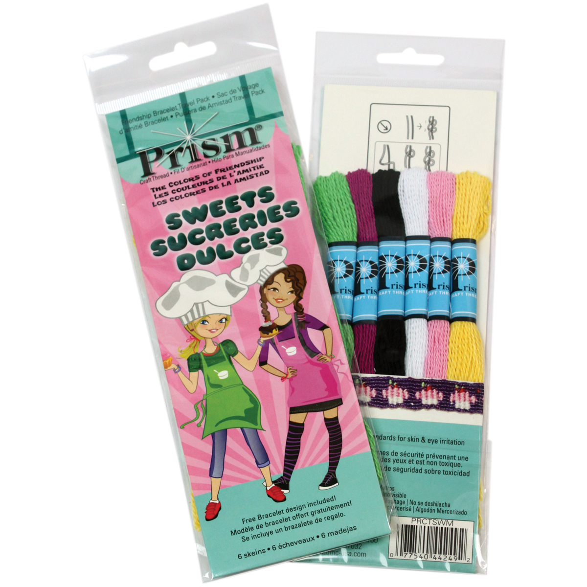 DMC Prism Six-Strand Mini Floss Packs, 6 Per Package, Sweets Multi-Colored