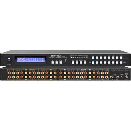Shinybow SB-8804LCM 8x8 Composite Video Matrix Switcher with 8-Zone Volume Control w/3-Yr Warranty