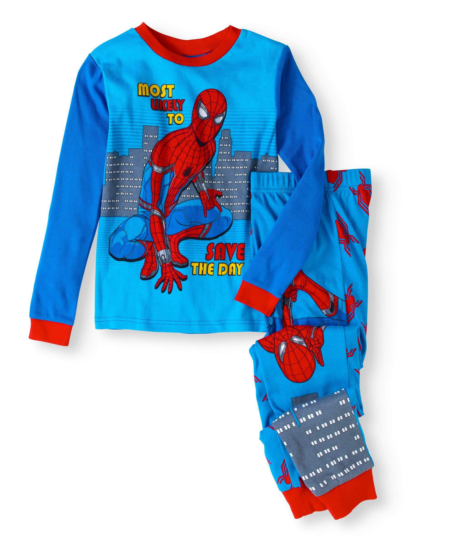 NWT Disney Store Spiderman Costume Tight Fit Pajama Set Boy Marvel 10