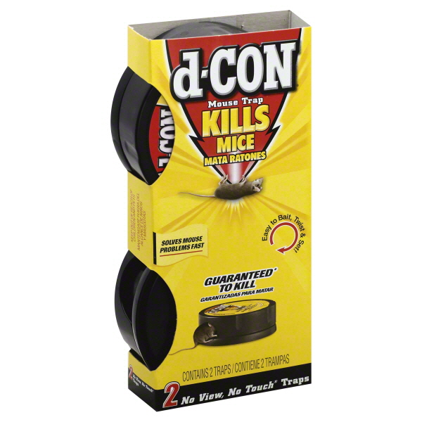d-CON Rodenticide Rodent No View, No Touch Mouse Trap, 2 Count