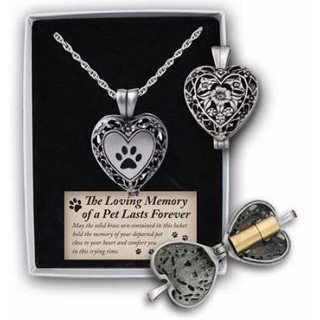 Locket-Loving Memory Of A Pet Heart w/Vial-Pewter (24 )