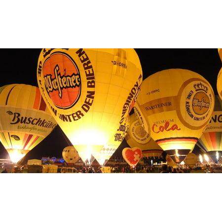 LAMINATED POSTER Hot Air Balloon Hot Air Balloon Ride Ballooning Poster Print 24 x 36