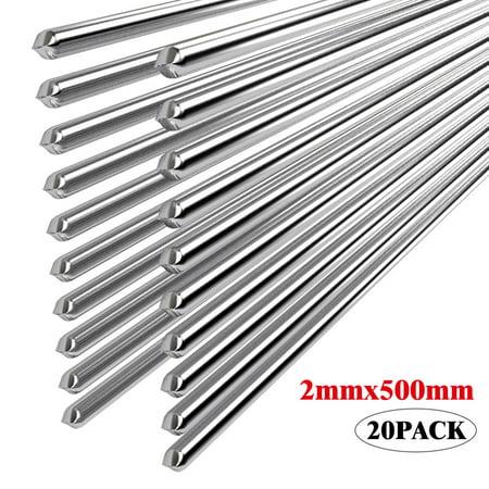EEEKit 20PCS Easy Melt Welding Rods Low Temperature Aluminum Wire Brazing - 2*500mm New