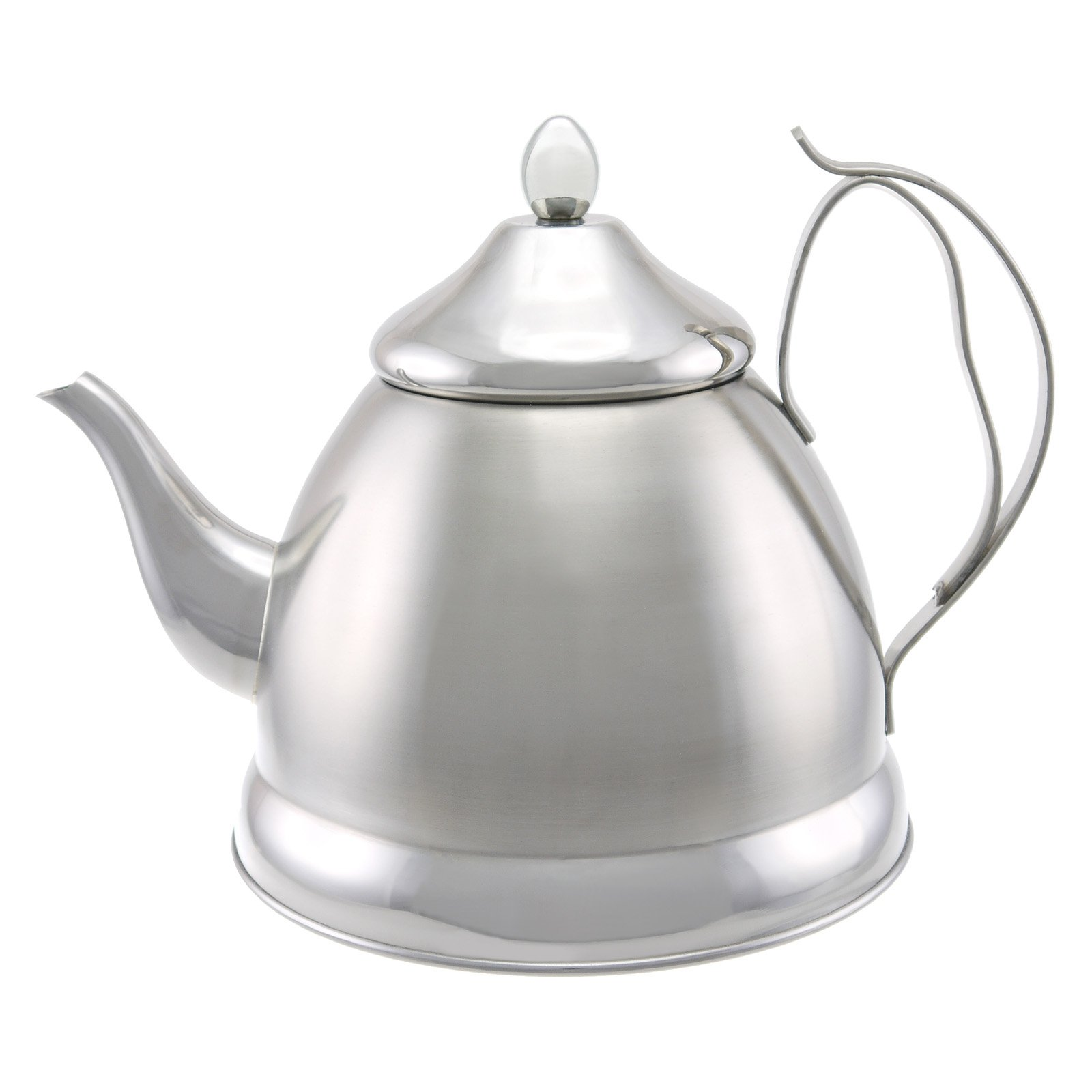 how to clean a burned stainless steel tea kettle