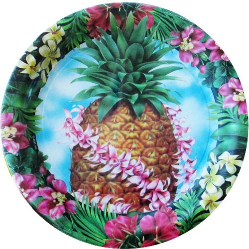 Hawaiian Luau u0027Pineapple Luauu0027 Large Paper Plates ...  sc 1 st  Walmart.com & Hawaiian Luau u0027Pineapple Luauu0027 Large Paper Plates (8ct) - Walmart.com