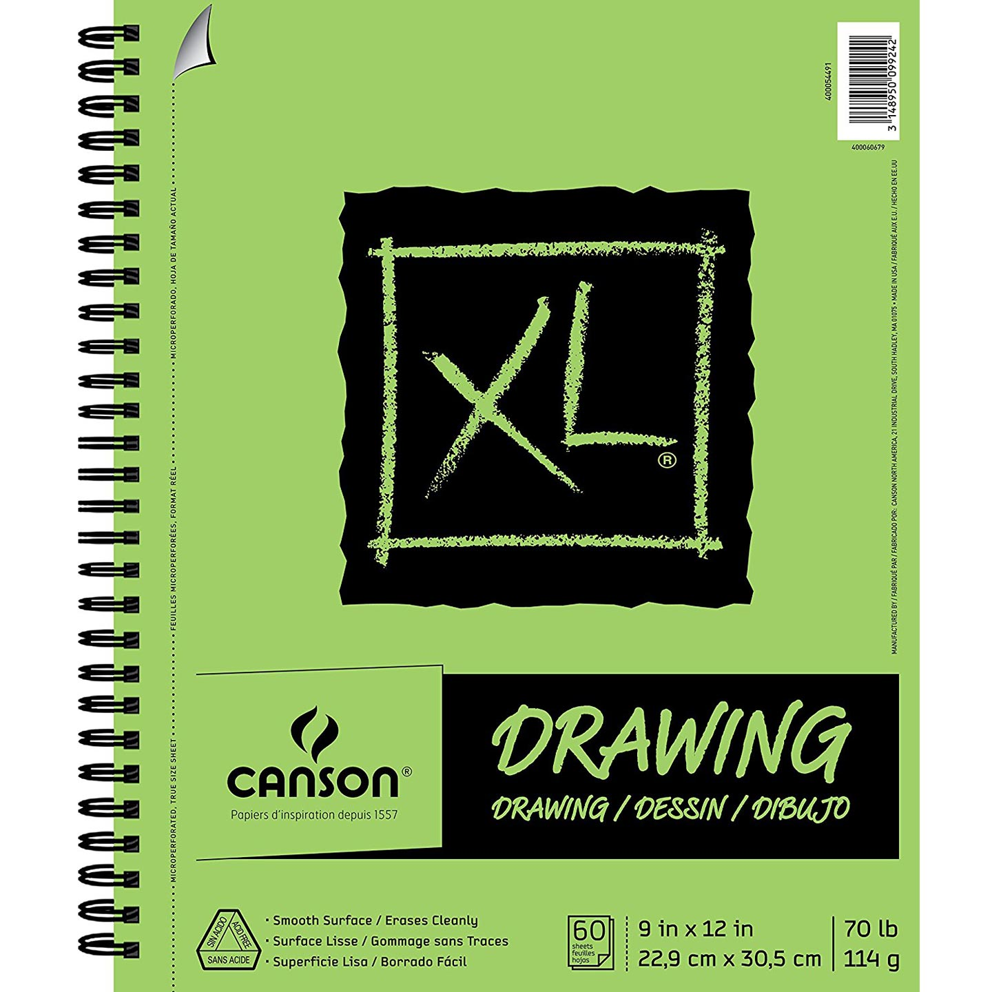 Canson XL Drawing Paper Pad: 9 x 12 inches