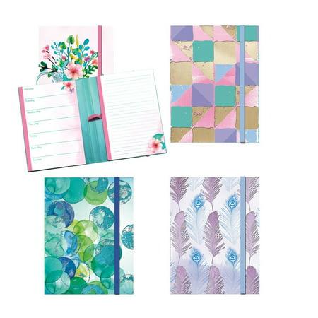 Bulk Notepads (Weekley Planner & Notepad Set (4 Planners/Notepads Total) w/Elastic Pen Holder - 5.125
