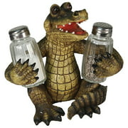 Rivers Edge BBBASP Alligator Glass Salt & Pepper Shakers