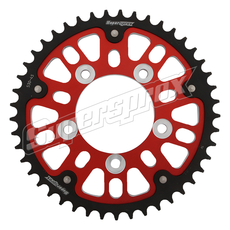 New Supersprox - Red Stealth Sprocket, 45T, Chain Size 525, Rst-807-45-Red