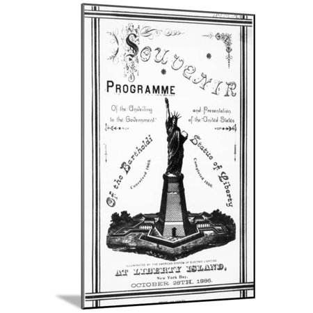 Program Souvenir for Statue of Liberty Wood Mounted Print Wall Art (Musical Souvenir Program)