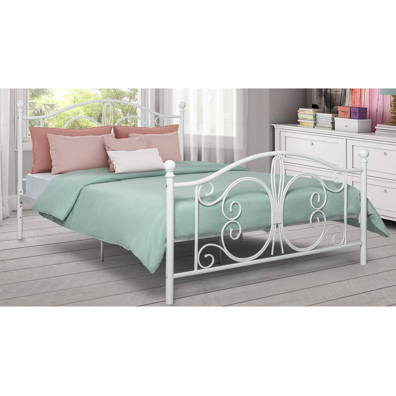 White metal full bed frame - Dorel Home Bombay Metal Bed Multiple Colors Multiple Sizes Walmart Com