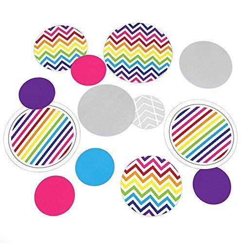 Chevron Rainbow - Party Table Confetti - 27 Count