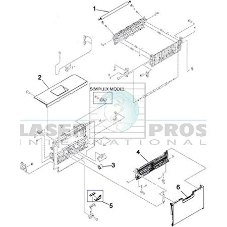 HP CE710-67006 OEM - Tray 1 paper separation pad