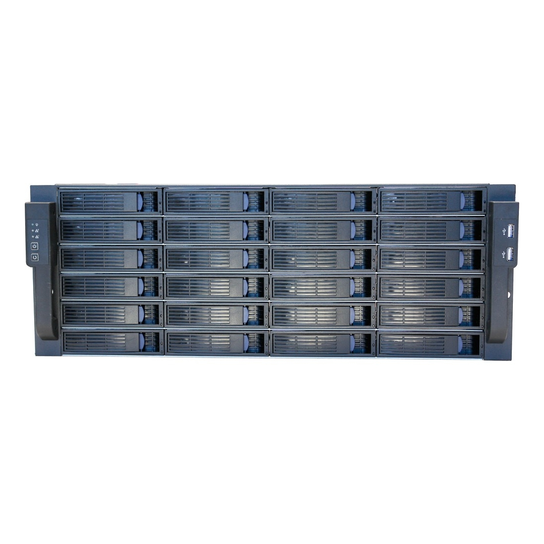 "Norco 4u Rackmount Server Case W/24 Hot-swappable Sata/sas Drive Bays - Rack-mountable - 4u - 24 X Bay - 6 X 3.15"" X Fan[s] Installed - Ssi Eeb, Ssi Ceb, Atx, Micro Atx, Mini Itx Motherboard (104850)"