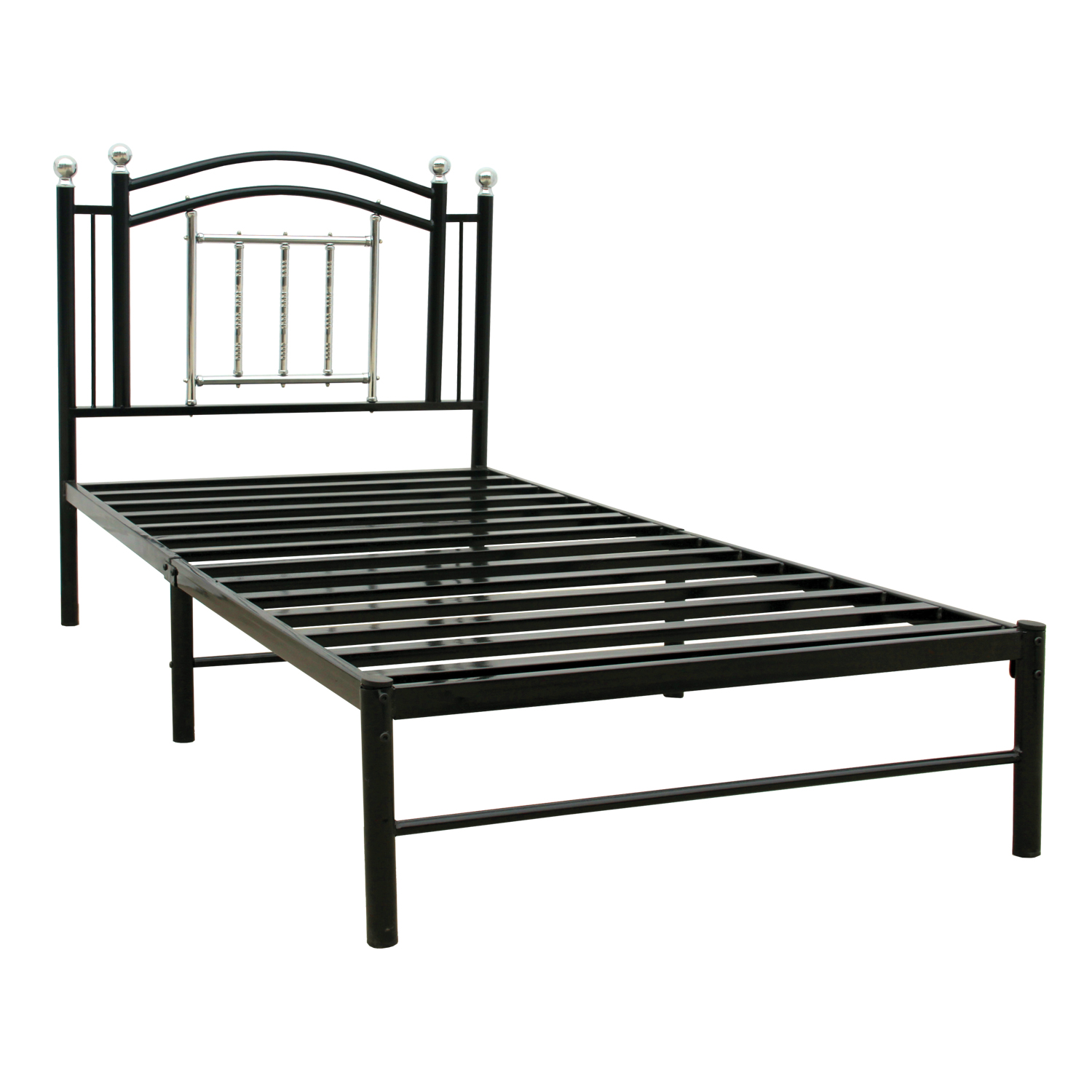 Home Source Gabriel Black and Chrome Full Bed