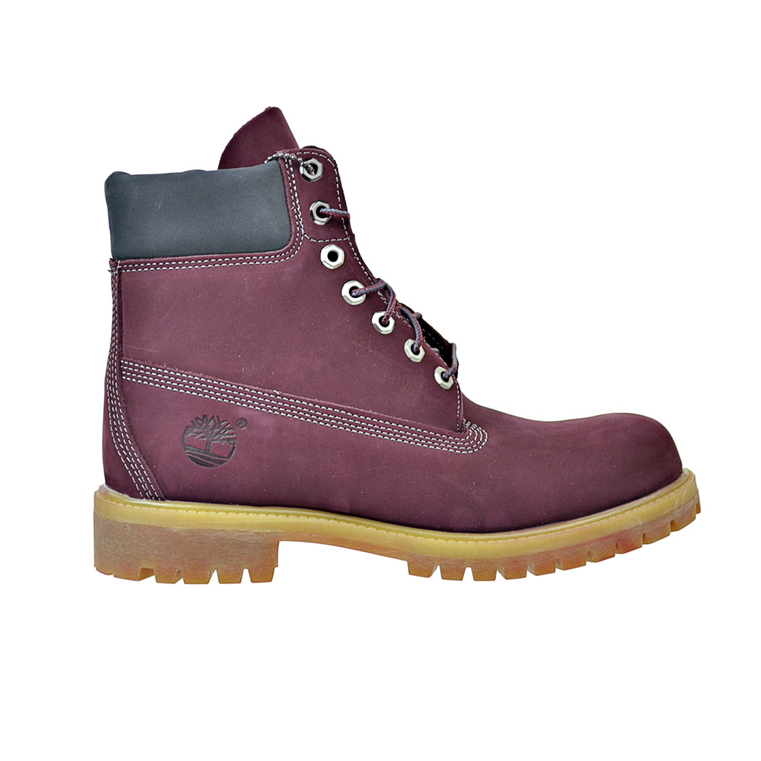 Timberland 6 Inch Premium Waterproof Men's Boots Maroon Burgundy tb0a17yn by Timberland