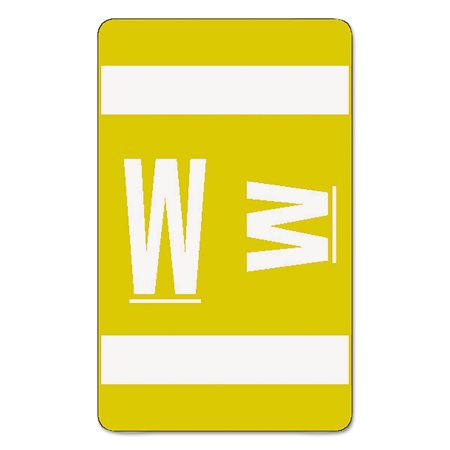Alpha-Z Color-Coded Second Letter Labels, Letter W, Yellow,