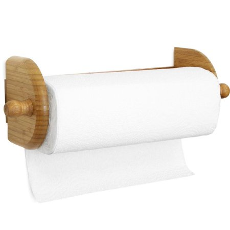 Greenco Premium Bamboo Wall Mount Paper Towel (Wall Mount Paper Towel Holder)