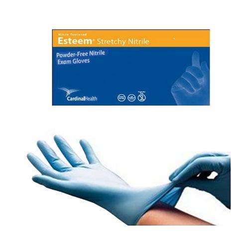 Esteem stretchy nitrile ii gloves, large, blue part no. 8813nb (150/box)