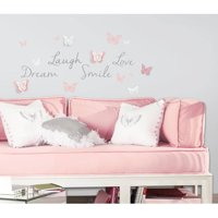 Roommates Butterfly Dream Peel and Stick Wall Decals with 3D Cutout Butterflies