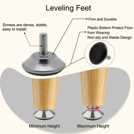 M8x18x40mm Furniture Glide Leveling Feet Adjustable Leveler Stool Sofa Leg 8pcs - image 5 de 7