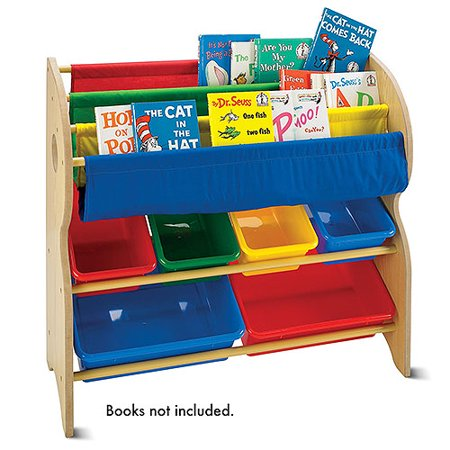 Tot tutors book toy organizer for Toy and book storage