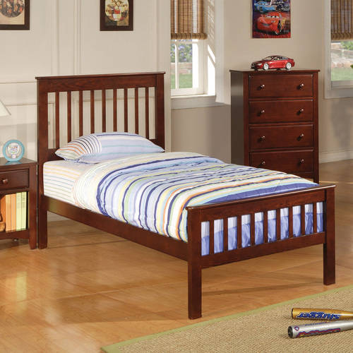 Coaster Parker Twin Bed in Brown/Cherry Finish