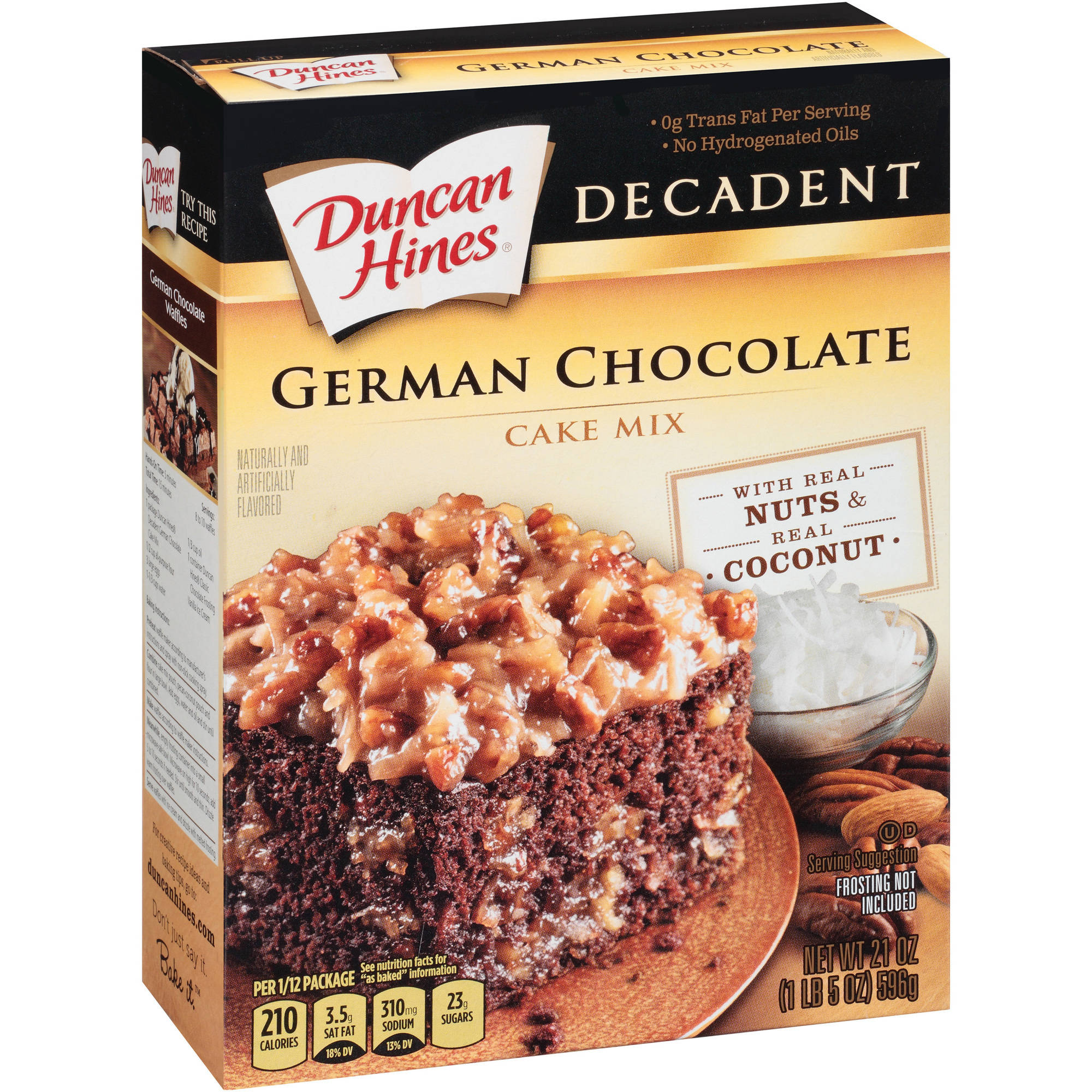 Duncan Hines Decadent German Chocolate Cake Mix, 21 oz