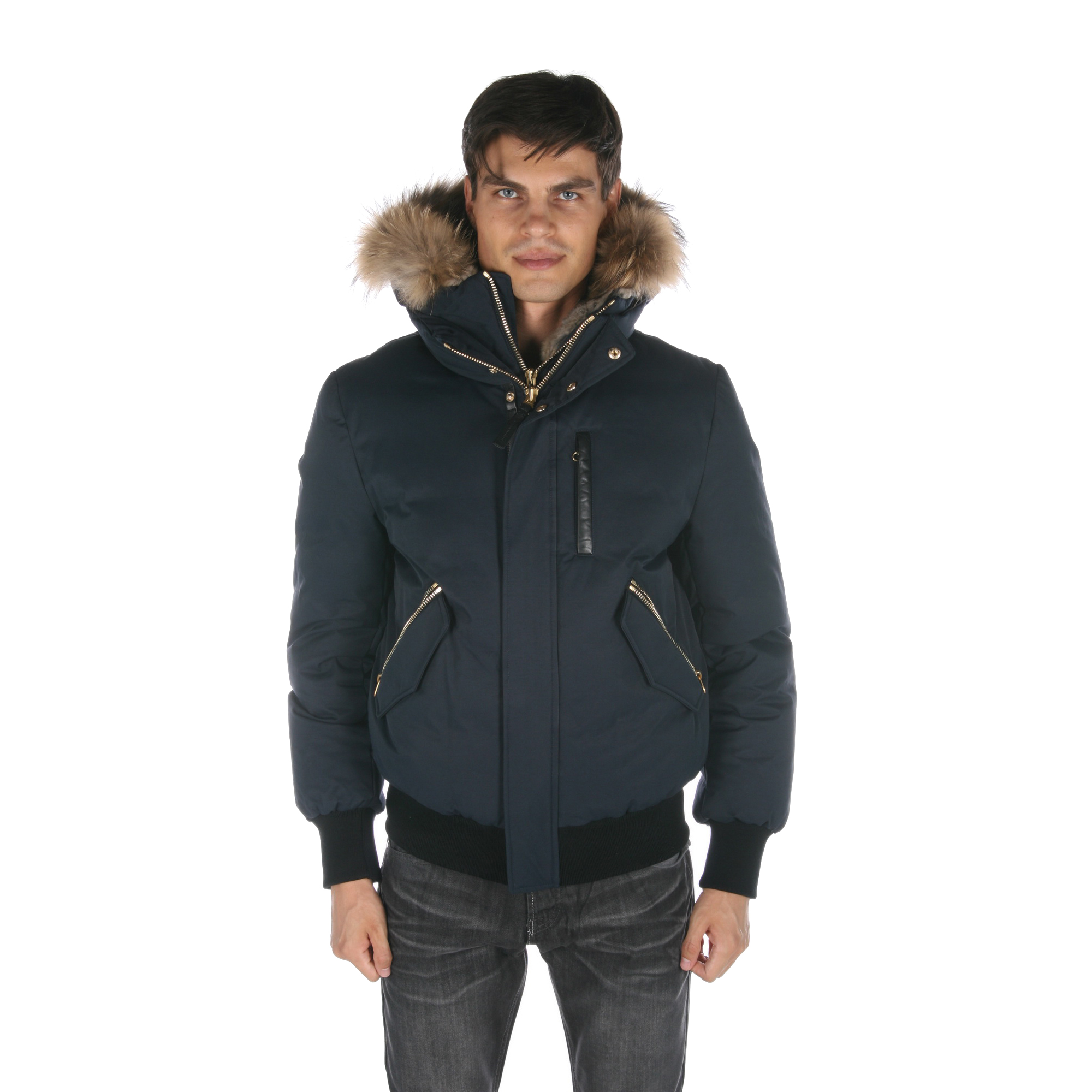 Mackage Dixon Down Bomber Mens Jacket W  Fur dixon-navy by Mackage