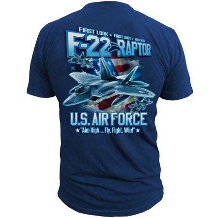 Royal Blue Air Force F-22 Raptor Tee - Men Air Purple Tee