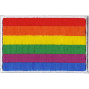 """Flag - LGBTQ Artwork Embroidered Iron On Patches, 2.5 x 4"""" Applique Sew On Patch"""