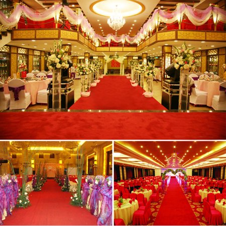 Celebrity Floor Runner Red Carpet Party Wedding Disposable Scene Decoration 5m x 1m,16ft *2.6ft(5mx 1m) color