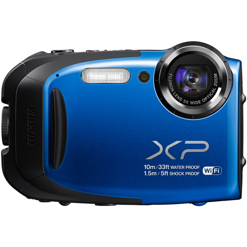FUJIFILM Blue FinePix XP75 Digital Camera with 16.4 Megapixels and 5x Optical Zoom