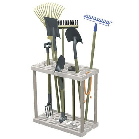 Tool rack light platinum for Gardening tools walmart