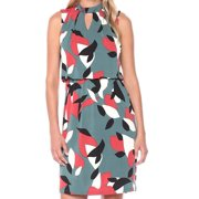 Nine West NEW Green Womens Size 10 Printed Keyhole Blouson Sheath Dress