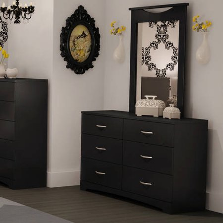 South Shore SoHo 6 Drawer Dresser and Mirror, Multiple Finishes