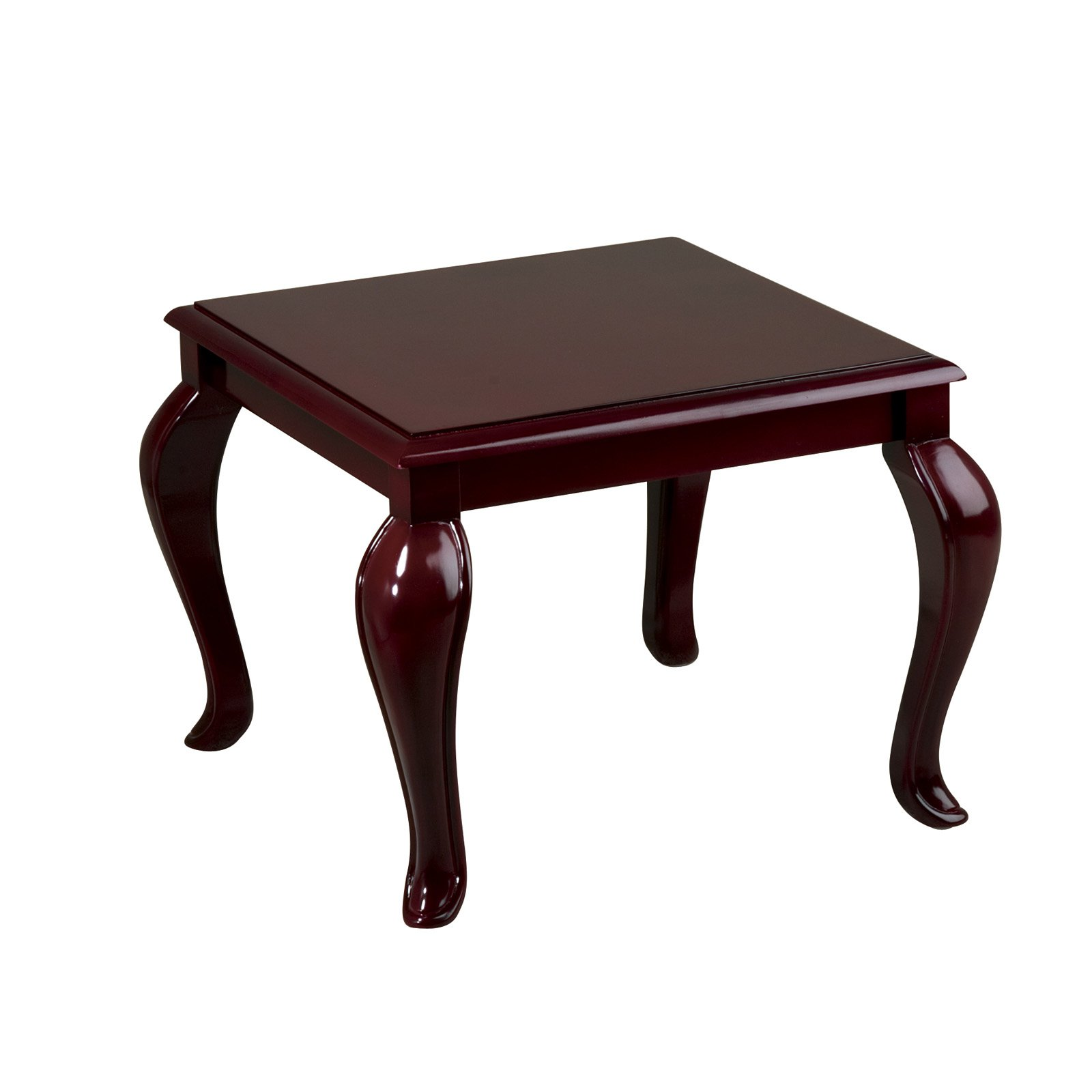 Queen Ann Traditional End Table, Mahogany