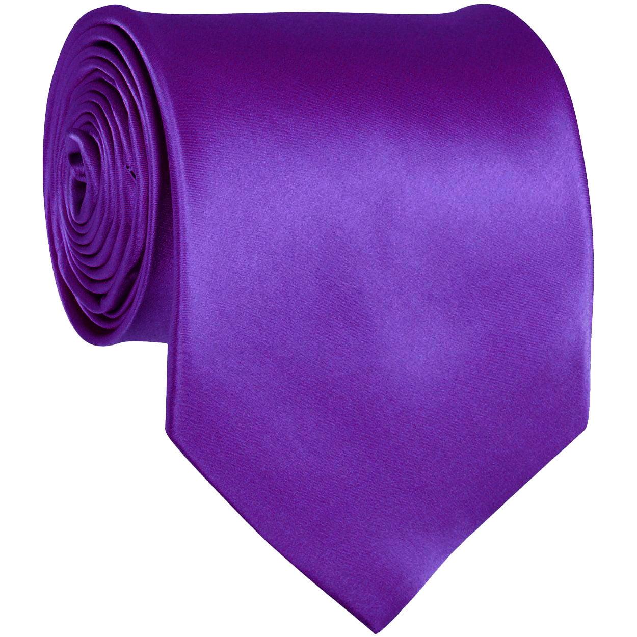 ADF-6 - Mens - Violet Purple - Solid Necktie