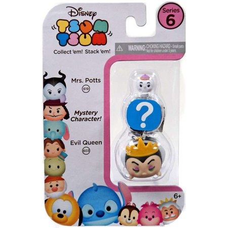 Disney Tsum Tsum Series 6 Mrs. Potts & Evil Queen Minifigure 3-Pack
